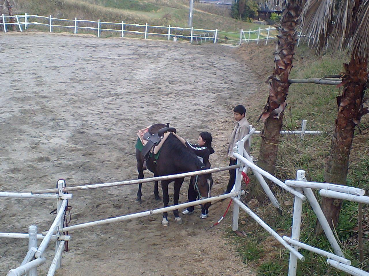 馬装は大変!
