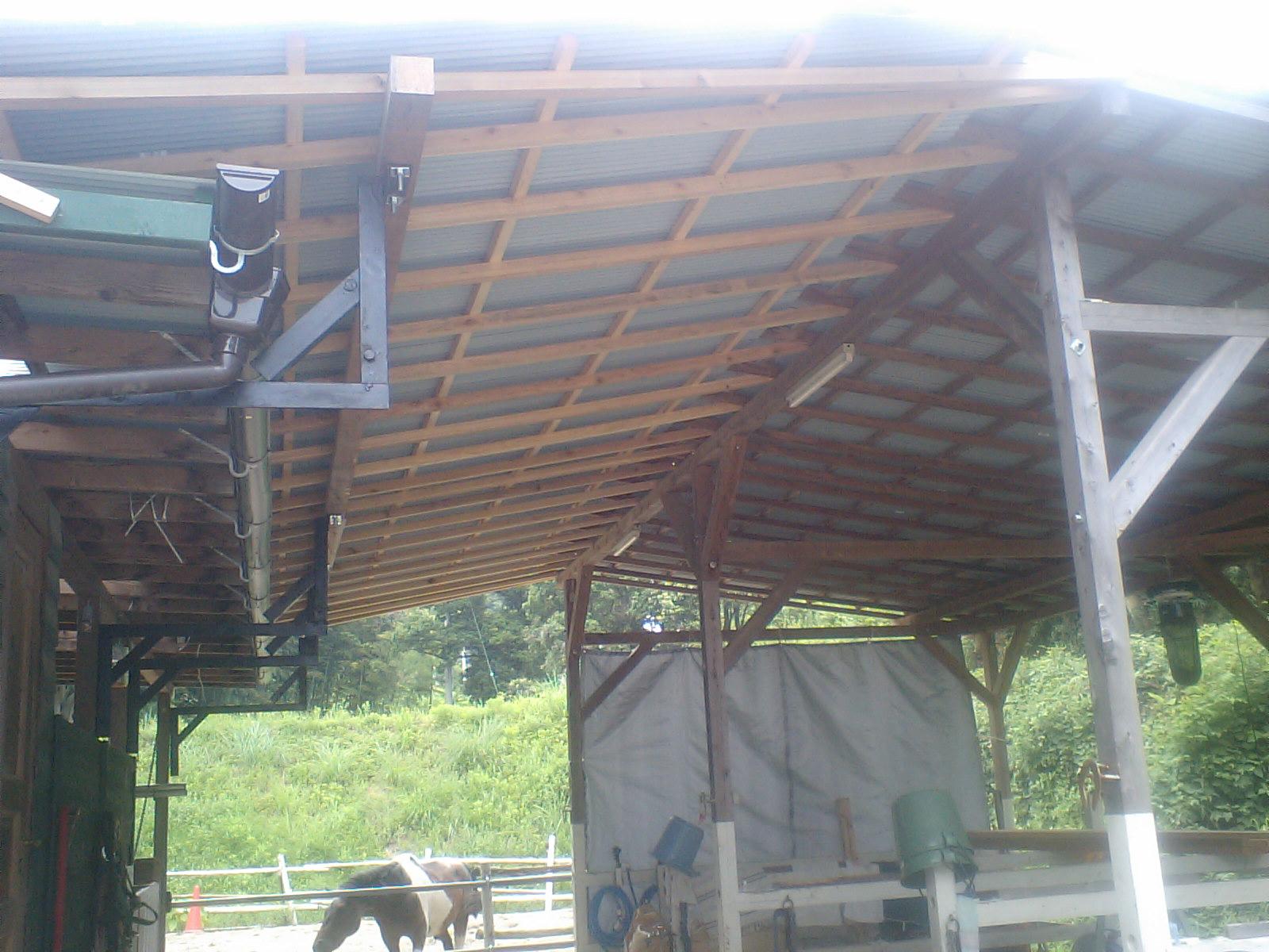 屋根が完成v(^-^)v